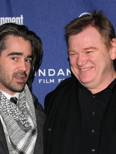 Colin Farrell and fellow Dubliner Brendan Gleeson at the Sundance Film Festival