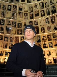Wentworth Miller tours the Holocaust Memorial in Jerusalem