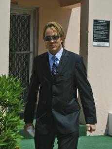 Larry Birkhead at the inquest of Daniel Smith in the Bahamas
