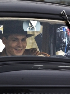 Johnny Depp films 'Public' Enemies' in Wisconsin