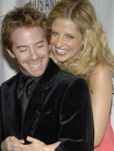 Seth Green and Sarah Michelle Gellar at the 'Buffy' reunion at PaleyFest