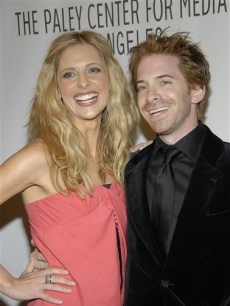 Seth Green andSarah Michelle Gellar at the 'Buffy' reunion at PaleyFest 2008