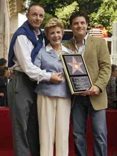 Patty Duke with sons Mackenzie and Sean Astin, on the Walk of Fame