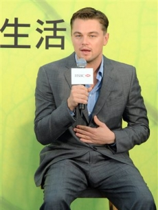 Leonardo DiCaprio attends a promotional event for a bank in Hong Kong