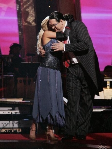 Kym hugs Penn Jillette as he is eliminated from 'Dancing With the Stars'