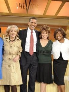 Presidential hopeful Barack Obama with the cast of 'The View'