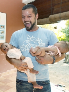 Ricky Martin during a visit to a shelter for victims of sexual exploitation in Cambodia
