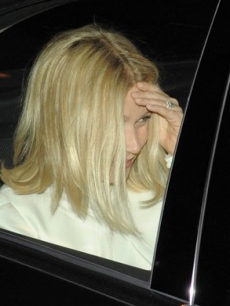 Gwyneth Paltrow arrives at Jay-Z's apartment building on Friday in New York for the rapper's reported wedding to Beyonce