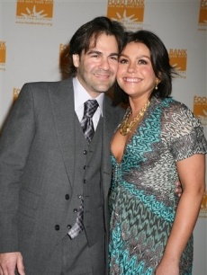 Rachael Ray and her husband John Cusimano at the Food Bank dinner, NYC