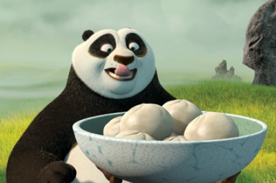 Po (voiced by Jack Black) in DreamWorks Animation&#039;s &#039;Kung Fu Panda&#039;