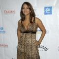 Halle Berry wears a leopard print cocktail dress by Dolce and Gabbana to the Silver Rose Gala in BH<strong> </strong>