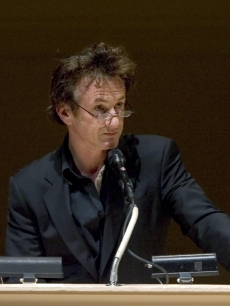 Sean Penn at a tribute to Norman Mailer at Carnegie Hall in NY