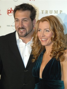 Joey Fatone and Heather Mills arrive at the 2008 Miss USA Pageant