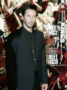 Keanu Reeves arrives for the Sydney premiere of his new movie &#8216;Street Kings&#8217;