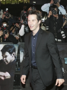 Keanu Reeves at the premiere of his new movie &#8216;Street Kings&#8217; in Seoul
