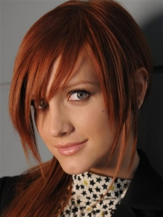 Ashlee Simpson poses at her record company, NYC, April 17, 2008