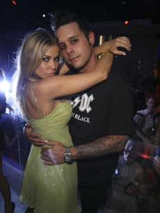 Carmen Electra and fiancee Rob Patterson at PURE Nightclub in Las Vegas