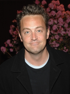 Matthew Perry smiles for the cameras at the benefit