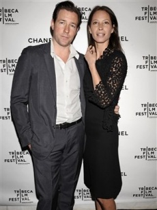 Ed Burns and Christy Turlington arrive for the Third Annual Artists Dinner, NYC