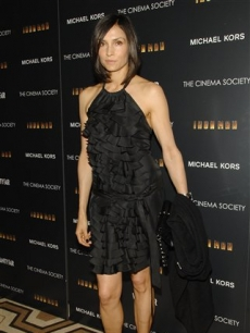 Famke Janssen attends an 'Iron Man' premiere at the Tribeca Grand Hotel