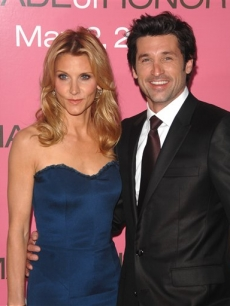 Patrick and Jillian Dempsey attend the 'Made of Honor' premiere in NYC