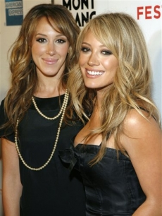 Haylie and Hilary Duff at the screening 'War, Inc.' at the Tribeca Film Festival