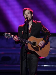 David Cook performs on last night's 'American Idol'