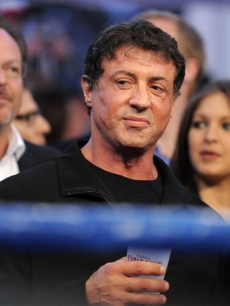 Sylvester Stallone attends the Oscar De La Hoya fight, May 3, 2008
