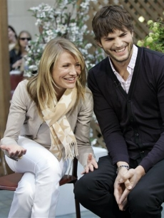 Cameron Diaz and Ashton Kutcher on the NBC's 'Today'