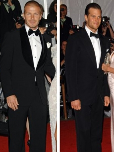 David Beckham and Tom Brady at the Met Costume Gala 2008