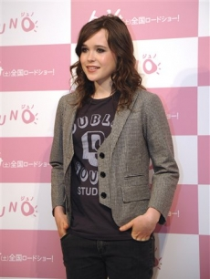 Ellen Page poses for photographers in Tokyo Wednesday