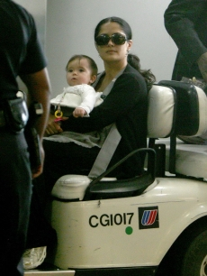 Salma Hayek and daughter Valentina at LAX