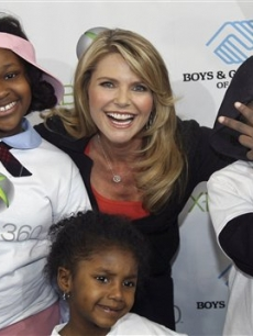 Christie Brinkley at XBox 360's National Family Fitness Day
