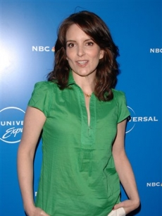 Tina Fey attends the NBC upfronts in NYC, May 12, 2008 