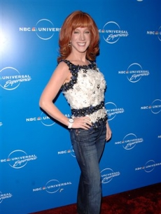 Kathy Griffin strikes her diva-licious pose at the NBC upfronts 