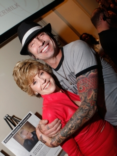 Odd couple Jane Fonda and Tommy Lee at a benefit in Atlanta, Georgia