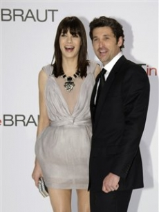 Patrick Dempsey and Michelle Monaghan at the German premiere of 'Made of Honor'