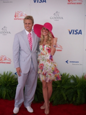 Spencer Pratt and Heidi Montag at the Kentucky Derby