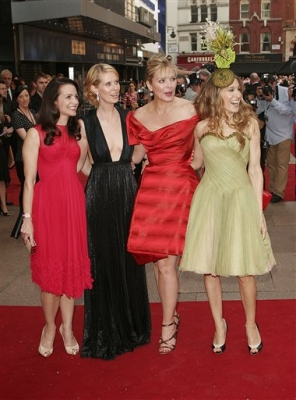 Kristin, Cynthia, Kim and Sarah Jessica at the World premiere of &#8216;SATC&#8217; 