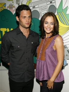 Penn Badgley and Leighton Meester at 'TRL,' May 13, 2008