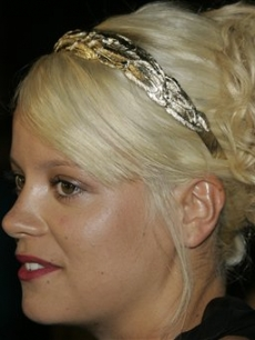 A blonde Lily Allen attends a Cannes film party 