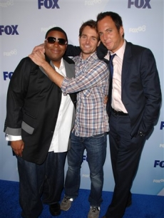 Kenan Thompson, Will Forte and Will Arnett at the Fox upfronts, NYC 