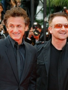 Sean Penn and Bono at the Cannes premiere of 'The Third Wave'