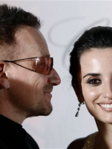 Bono and Penelope Cruz at the 'Vicky Christina Barcelona' after party in Cannes