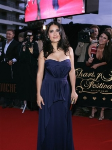 Salma Hayek at the Partouche Charity Poker festival in Cannes