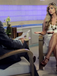 Denise Richards is interviewed by NBC&#8217;s &#8216;Today&#8217; co-host Matt Lauer in New York