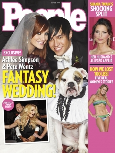 Ashlee Simpson and Pete Wentz People wedding cover