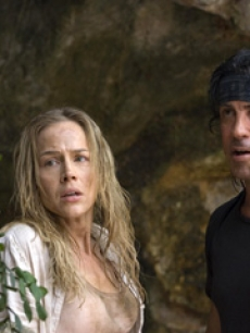 Julie Benz and Sylvester Stallone in