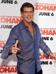 David Hasselhoff at the 'You Don't Mess With The Zohan' premiere in Los Angeles