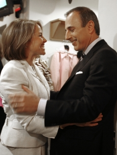 Katie Couric catches up with Matt Lauer after appearing on 'Today'
